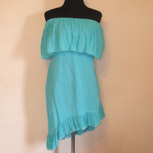 NEW Arden B Gauze High Low Ruffle Bodice Dress